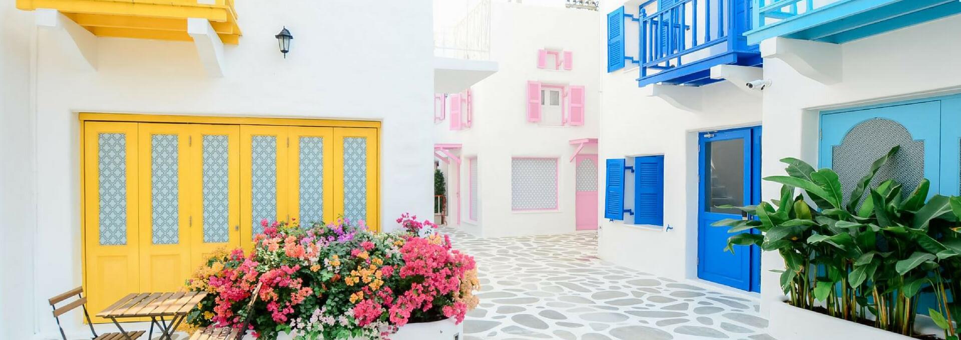 domy nieruchomości domki kolorowe