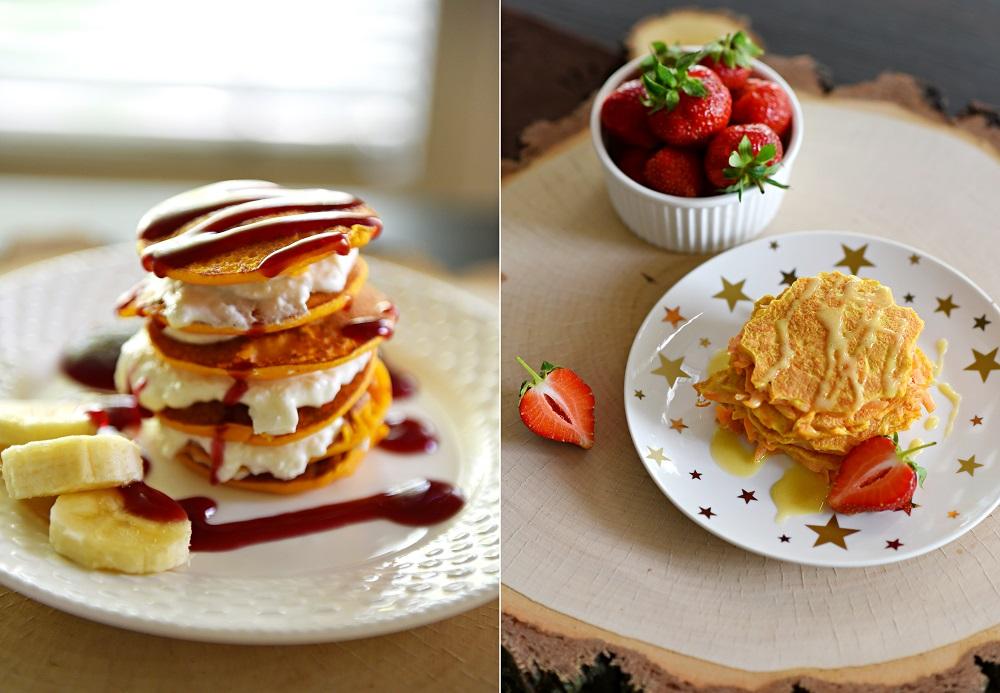 Przedstawiam wam Fit słodkie Pancakes z dyni lub marchewki!