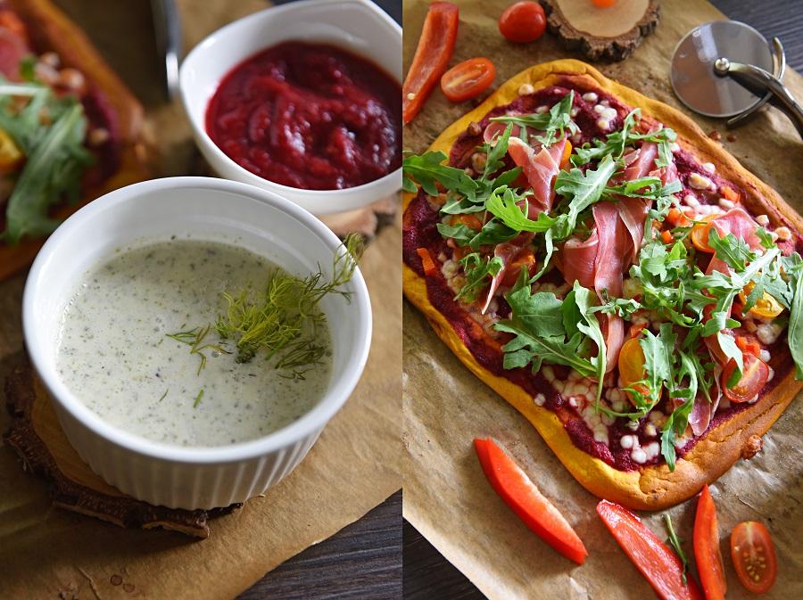 pizza z sosami
