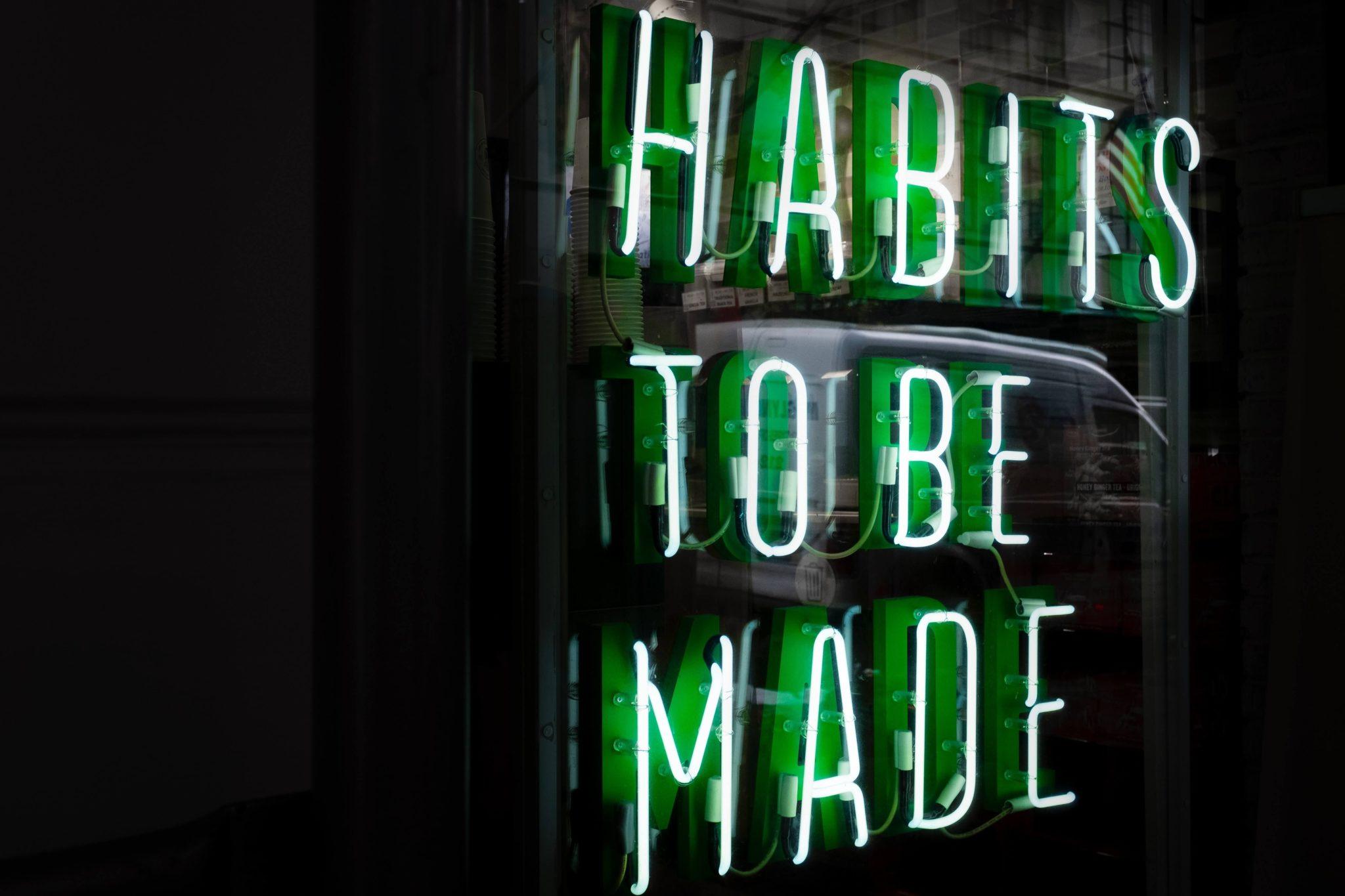 nawyki, tworzenie nawyków, praca z nawykami, działanie, habits to be made, robić nawyki, kształtować nawyki