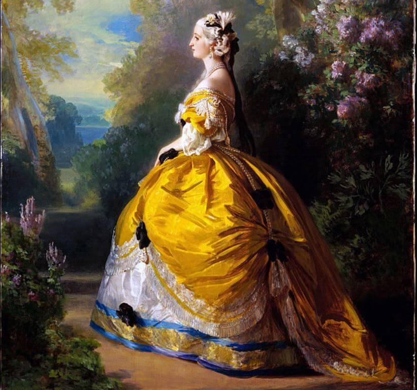 koronki w modzie - Eugenia Bonaparte