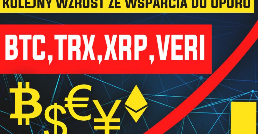 zdjęcie wpisu Analiza Bitcoina, TRX, XRP oraz VERI