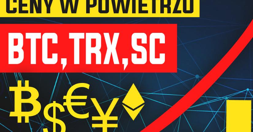 zdjęcie wpisu Analiza Bitcoina, Siacoin oraz TRONa